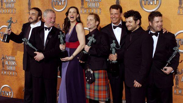 Актеры из фильма Властелин колец на вручении премии Гильдии киноактеров в Лос-Анджелесе
