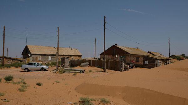 Вид на поселок Барханы