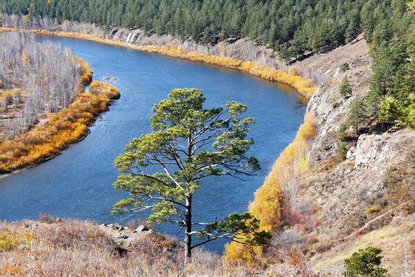 Вид на реку Ингода с Титовской сопки