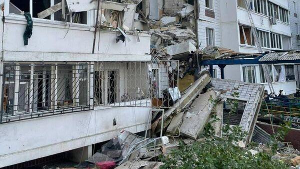 Многоквартирный жилой дом в Ногинске разрушенный в результате взрыва бытового газа