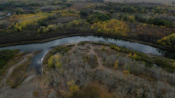 Осенний пейзаж в окрестностях Оренбурга