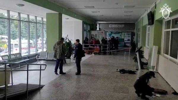 Работа следователей на месте стрельбы в Пермском университете. Кадры СК РФ