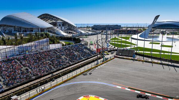 Вид на трассу Формулы-1 в Сочи