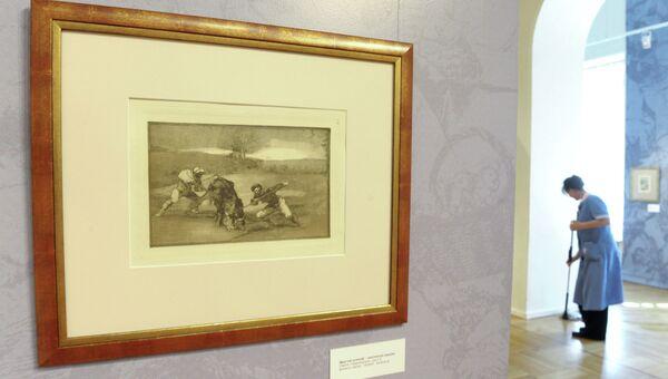 Выставка коллекции графики Франсиско Гойи Сумерки и свет в Музее Современной истории России. Архивное фото
