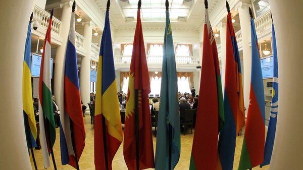 Флаги государств СНГ, архивное фото