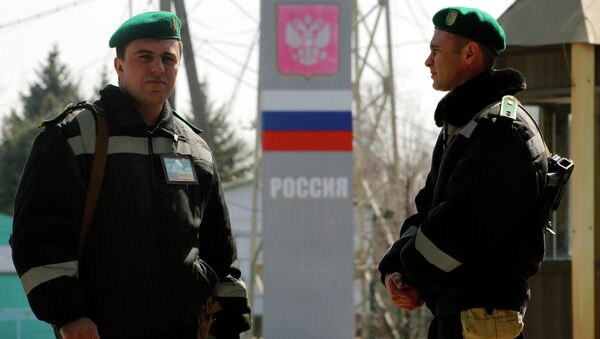 Украинские пограничники на российско-украинской границе. Архивное фото