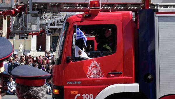 Пожарная машина в Афинах, архивное фото
