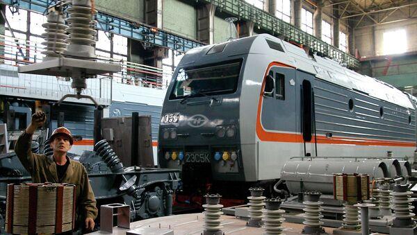 Строительство локомотива. Архивное фото