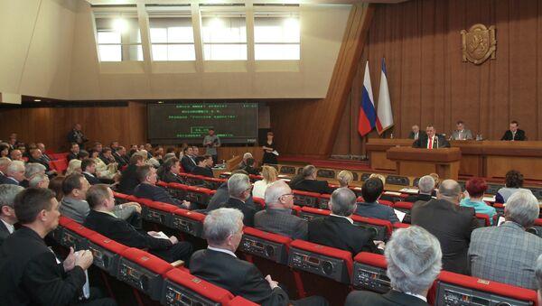 Заседание Государственного Совета Крыма. Архивное фото