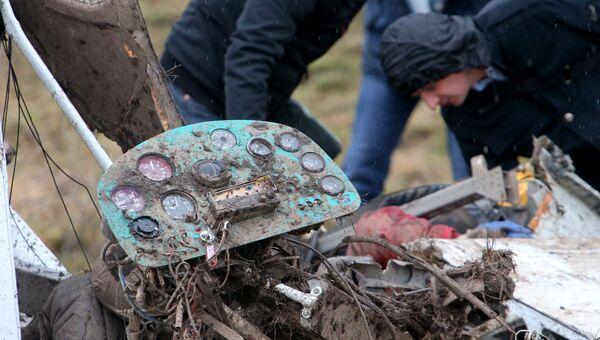 Учебный самолет разбился в Калининградской области. Фото с места события
