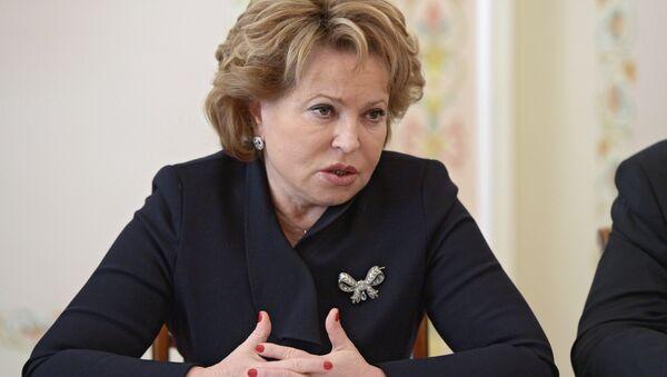 Председатель Совета Федерации РФ Валентина Матвиенко, Архивное фото