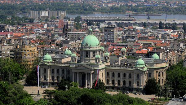 Вид с воздуха на Белград, Сербия. Архивное фото