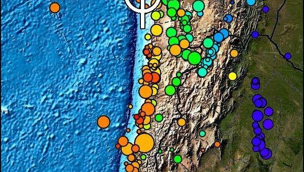 Данные по землетрясению в Чили (Тихоокеанский Центр предупреждения о цунами)
