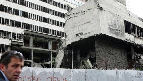 Разрушенные во время бомбардировок НАТО здания в Белграде. Архивное фото