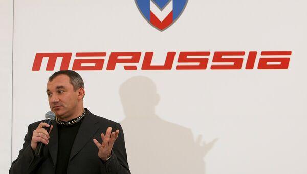 Николай Фоменко презентовал первый российский болид Marussia