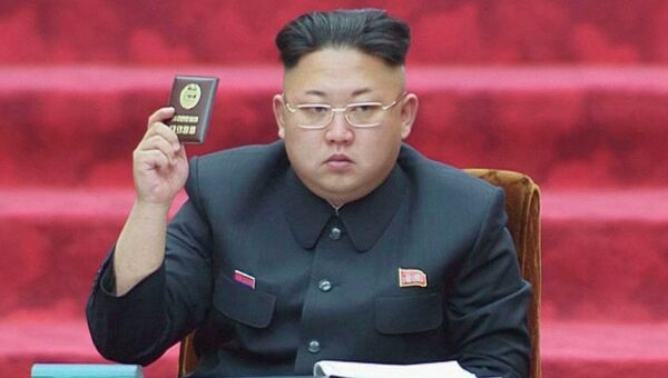 Ким Чен Ын на сессии Верховного народного собрания КНДР. 9 апреля 2014