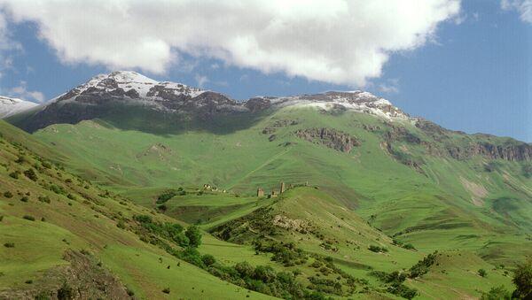 Высокогорное селение в Ингушетии. Архивное фото