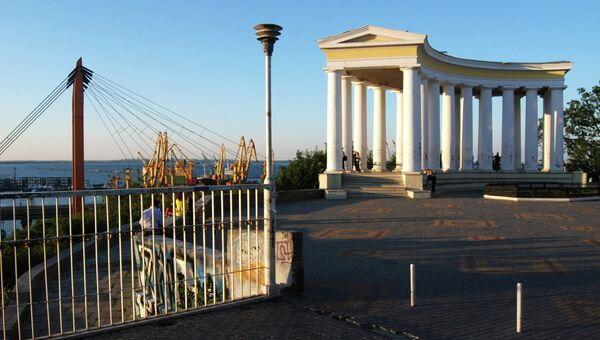 Колоннада на Приморском бульваре в Одессе, архивное фото