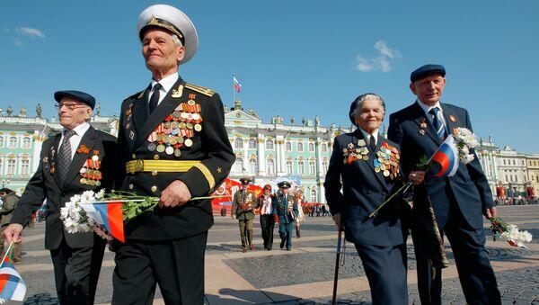 Военный парад , посвященный Дню Победы. Архивное фото