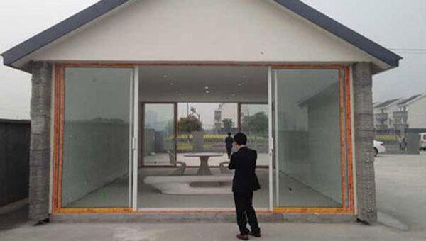 Дом созданный с помощью гигантского 3D-принтера