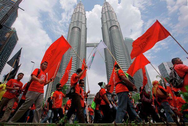 Первомайская демонстрация в Куала-Лумпур,  Малайзия