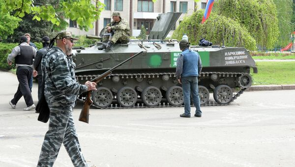 Представители сил самообороны Славянска. Архивное фото