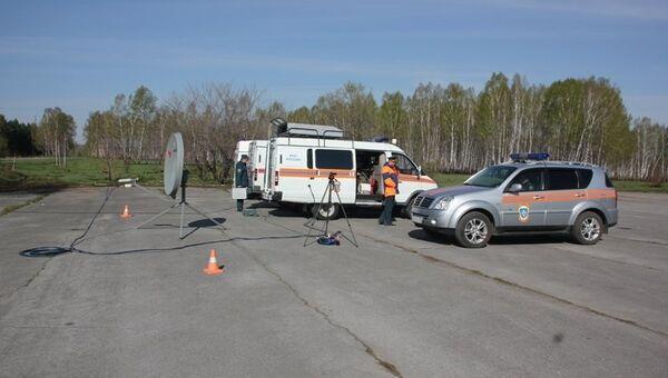 Ликвидация последствий происшествия в Искитимском районе на территории Новосибирского завода искусственного волокна.