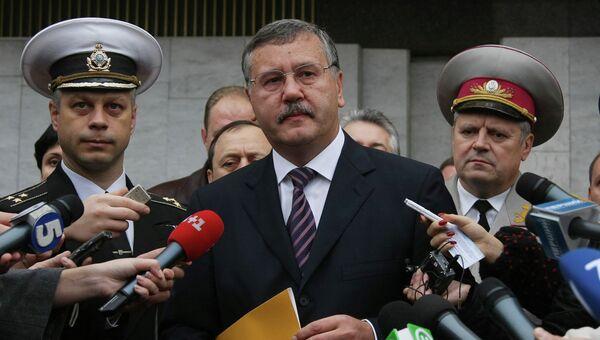 Кандидат в президенты Украины Анатолий Гриценко