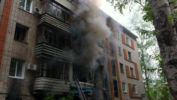 Взрыв бытового газа в пятиэтажном жилом доме на улице Даниловского в Хабаровске