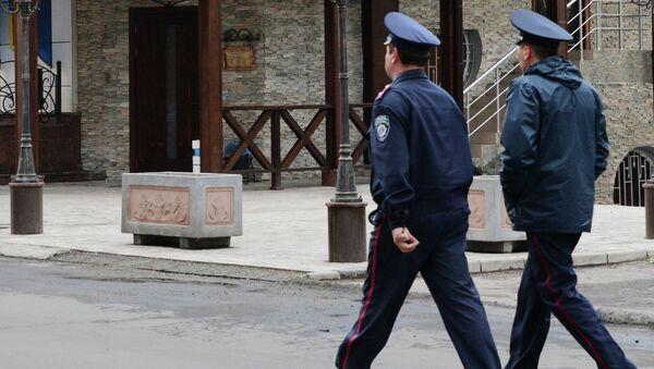 Сотрудники правоохранительных органов МВД Украины. Архивное фото