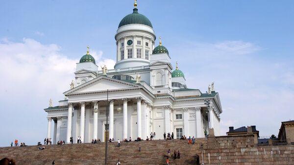 Финляндия. Хельсинки. Сенатская площадь. Архивное фото