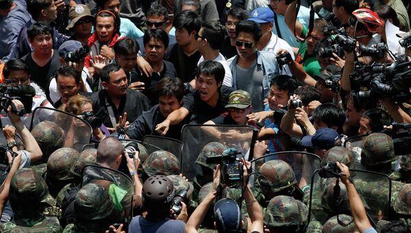 Акция протеста против военного переворота в Таиланде