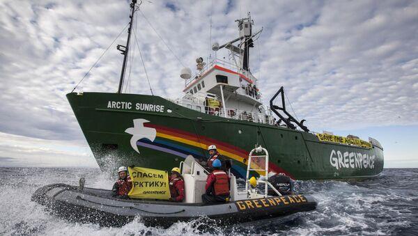 Акция Greenpeace против бурения нефтяных скважин в Арктике. Архивное фото