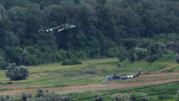 Украинские вертолеты в районе Славянска. Архивное фото