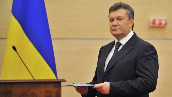 Отстраненный от должности президента Украины Виктор Янукович. Архивное фото