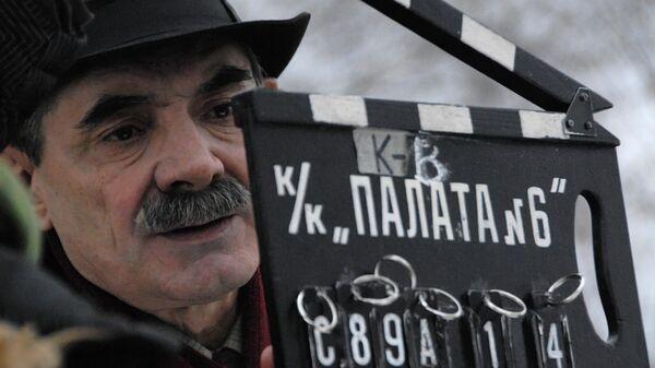 Актер Александр Панкратов-Черный на съемочной площадке фильма Палата N 6. Архивное фото