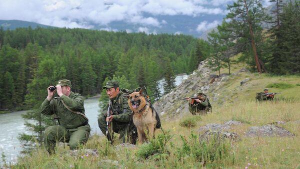 Российские пограничники на юге Западной Сибири. Архив