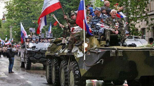 В Симферополе прошла первая репетиция Парада Победы