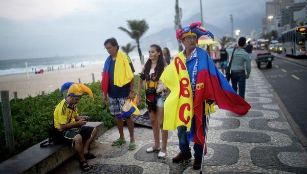 Футбольные болельщики в Рио-де-Жанейро