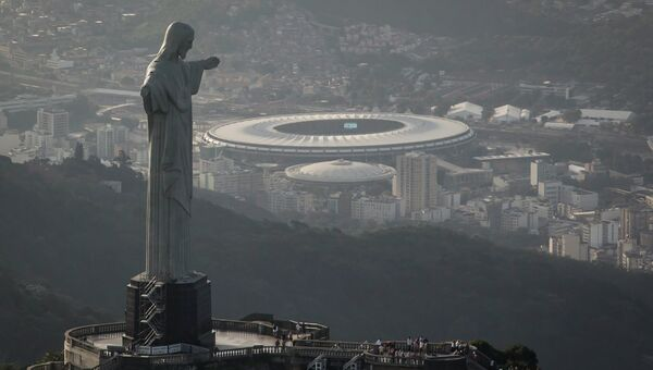 Статуя Христа Спасителя на горе Корковадо в Рио-де-Жанейро. Архивное фото