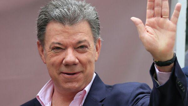 Президент Колумбии Хосе Мануэль Сантос