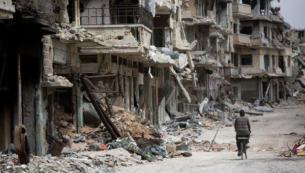 Развалины сирийского города. Архивное фото