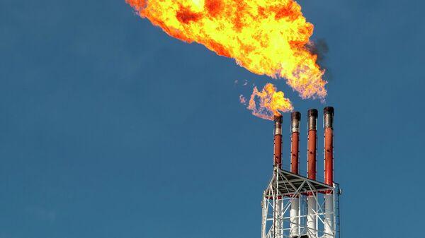 На территории первого в России завода по производству сжиженного газа (СПГ) на Сахалине