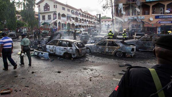Взрыв в торговом центре в Нигерии. Архивное фото