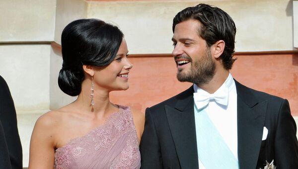 Шведский принц Карл Филипп и София Хеллквист. Архивное фото