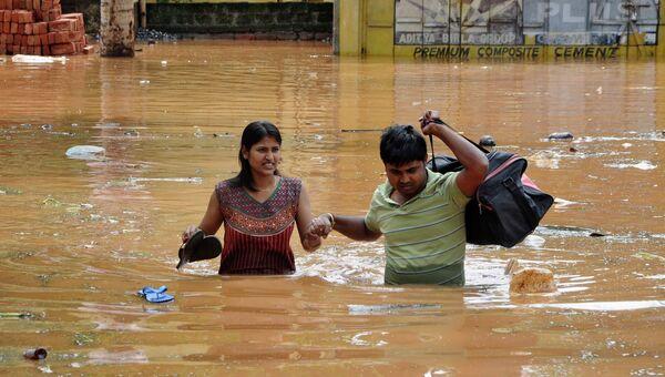 Наводнение в штате Ассам в Индии