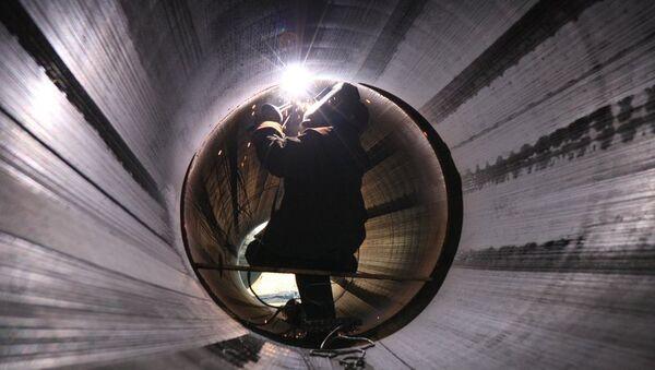 Строительство газопровода Южный поток. Архивное фото