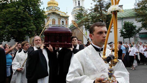 Отпевание митрополита Киевского и всея Украины Владимира
