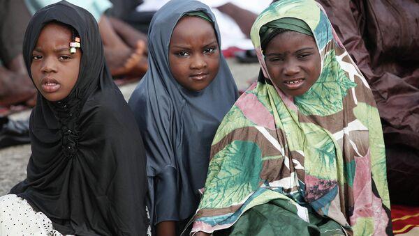 Девочки-мусульманки из Нигерии