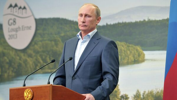 Пресс-конференция В.Путина в рамках саммита G8